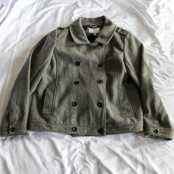 Old Navy XXL Pea Coat Grey